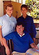 Scanga with sons Joe and Bill